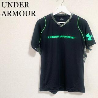 UNDER ARMOUR - ★美品★アンダーアーマー トレーニングウェア メンズLG 黒 Tシャツ ロゴ