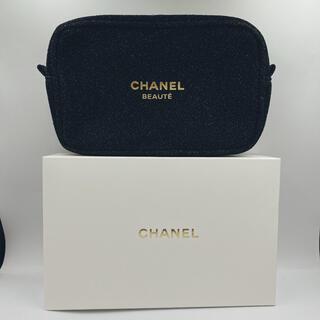 CHANEL - シャネルノベルティポーチ 黒 箱付き
