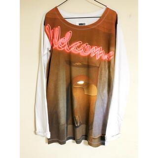 エムエムシックス(MM6)の【MM6】プリントロングTシャツ(Tシャツ(長袖/七分))
