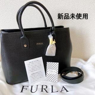 Furla - 新品未使用 FURLA フルラ トートバッグ ハンドバッグ ブラック 黒 リンダ