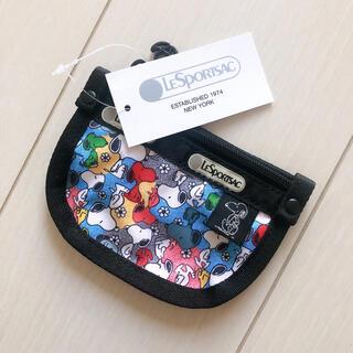 LeSportsac - 新品 レスポートサック スヌーピー Snoopy コインケースキーリング付き