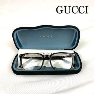 Gucci - GUCCI ロゴ べっ甲 めがね ビーモチーフ 度なし