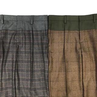 kolor - Kolor 19AW  GUNCLUB CHECK 1PLEATS PANTS