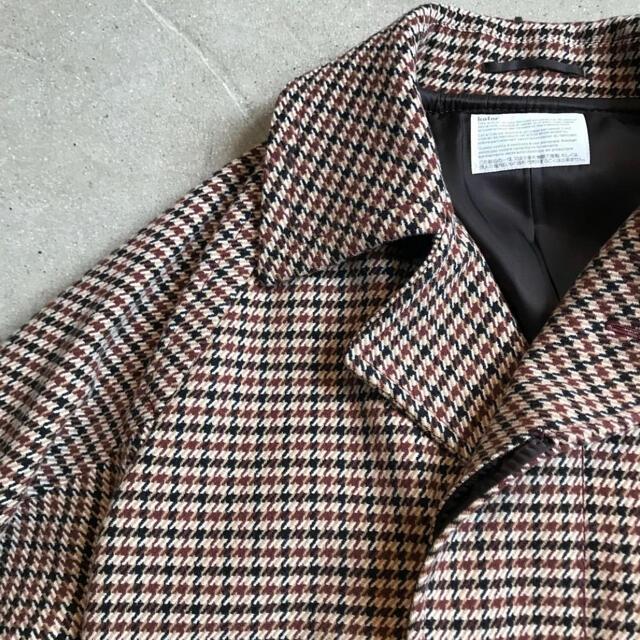 kolor(カラー)のKolor 18AW GUN CLUB CHECK COAT メンズのジャケット/アウター(ステンカラーコート)の商品写真