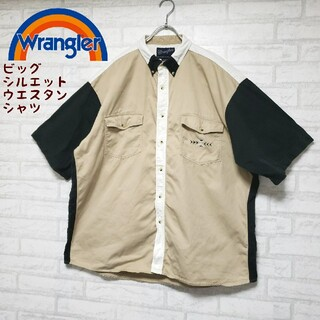 ラングラー(Wrangler)のラングラー Wrangler 半袖ウエスタンシャツ 刺繍柄 ビッグシルエット(シャツ)