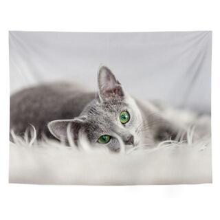 子猫 布ポスター タペストリー 北欧 ファブリックポスター 壁掛け 取付金具付き