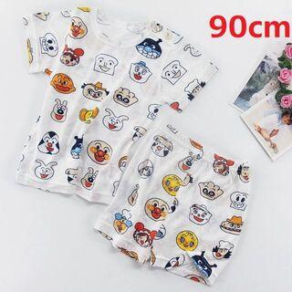 アンパンマンパジャマ ルームウェア  半袖 半ズボン ベビー キッズ 90cm