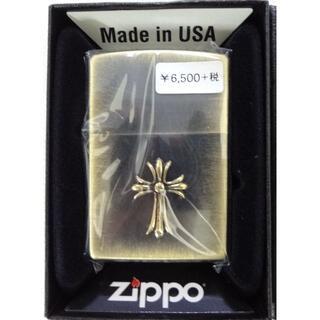 ジッポー(ZIPPO)の新品 ZIPPO ユーズドメタル BSBクロス 定価7150円(タバコグッズ)