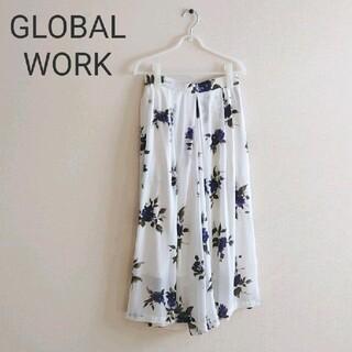 GLOBAL WORK - グローバルワーク GLOBAL WORK バラ花柄 ガウチョパンツ
