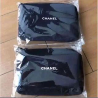 CHANEL - CHANEL ノベルティポーチ 黒 2個セット