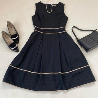 René - ルネ ワンピース 紺 フレア 膝丈 スカート ドレス 春服 夏服 日本製