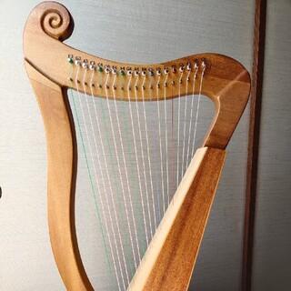 19弦  竖琴 新品ハープ 楽器マホガニー材(その他)