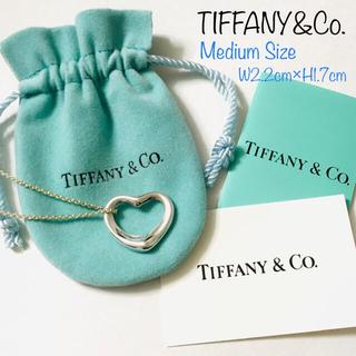 Tiffany & Co. - ティファニー エルサペレッティ オープンハート ネックレス Mサイズ
