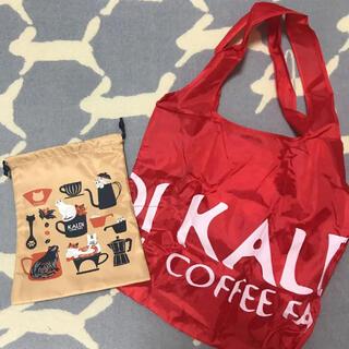 """カルディ(KALDI)のKALDI❤︎""""人気❣️エコバッグ&可愛い❤︎猫 巾着(エコバッグ)"""
