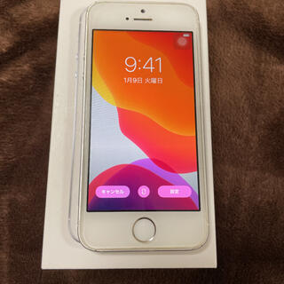 iPhone - iPhoneSE  64G Silver simフリー バッテリー交換済み