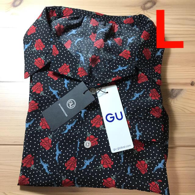 GU(ジーユー)のGU UNDERCOVER コラボ ブラウス ブラック Lサイズ 新品未使用 レディースのトップス(シャツ/ブラウス(半袖/袖なし))の商品写真
