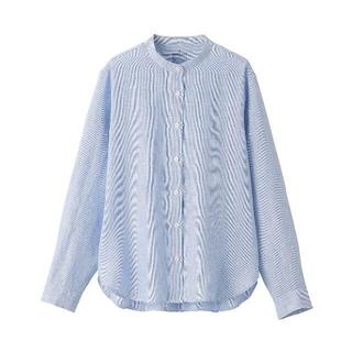 MUJI (無印良品) - 無印良品 オーガニックリネン洗いざらし スタンドカラーシャツ  婦人M