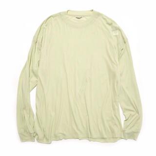AURALEE GIZA SUPER HIGH GAUGE L/S TEE (Tシャツ/カットソー(七分/長袖))