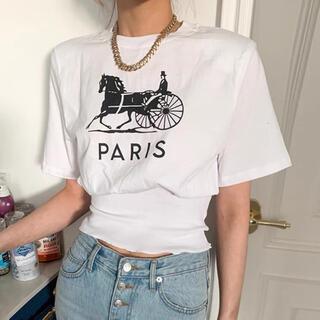 ディーホリック(dholic)の【予約販売】ウエストマークParisロゴTシャツ♥2color(Tシャツ(半袖/袖なし))