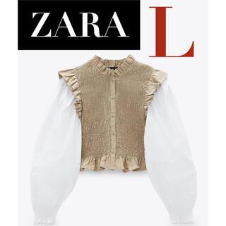 ZARA - 【新品*未着用】ZARA シャーリング入りブラウス シャーリングブラウス