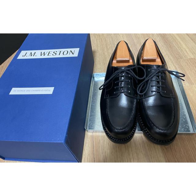 J.M. WESTON(ジェーエムウエストン)のjmweston GOLF 641 ブラック 5/E メンズの靴/シューズ(ドレス/ビジネス)の商品写真