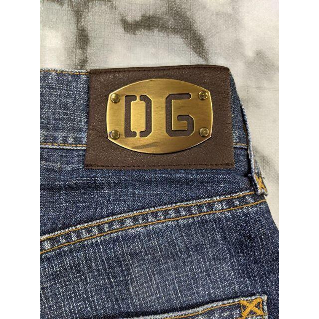 Chrome Hearts(クロムハーツ)のD&G(ドルガバ)革パッチカスタム メンズのパンツ(デニム/ジーンズ)の商品写真