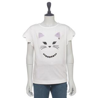 アナスイミニ(ANNA SUI mini)の新品 アナスイミニ 袖スカラップネコフェイスTシャツ(Tシャツ/カットソー)