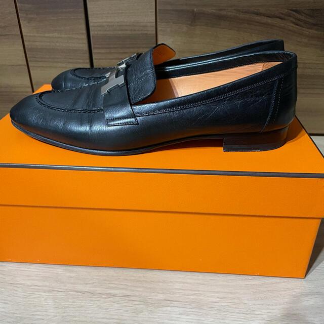 Hermes(エルメス)の【マキコ様専用】エルメス モカシン 37.5 レディースの靴/シューズ(ローファー/革靴)の商品写真