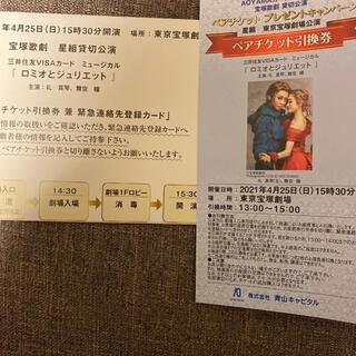 星組 貸切公演 ロミオとジュリエット ペアチケット(演劇)