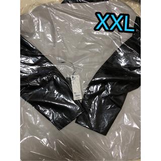 GU - 【新品未使用タグ付き】フェイクレザージャケット【黒XXL】