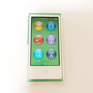 アイポッド(iPod)のiPod nano 7世代 グリーン(ポータブルプレーヤー)