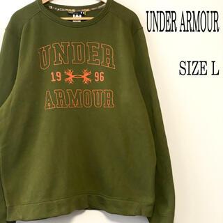 UNDER ARMOUR - UNDER ARMOUR アンダーアーマー ロゴプリント スウェット グリーン