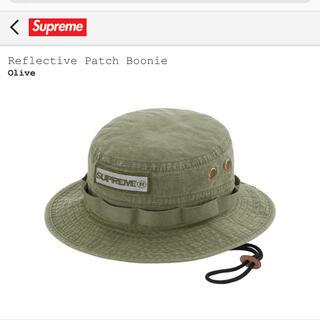 シュプリーム(Supreme)の21ss supreme Reflective patch Boonie(ハット)