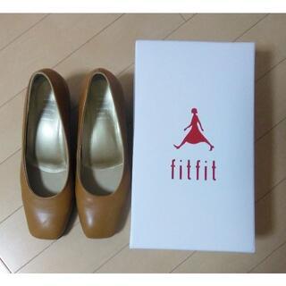 フィットフィット(fitfit)のfitfit 「スクエアトゥヒールニーカーI」 キャメル 24.0㎝(ハイヒール/パンプス)