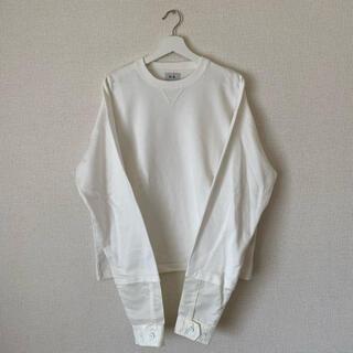サンシー(SUNSEA)のno. sleeve layered sweat(スウェット)