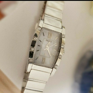 SEIKO - 稼動品⌚訳あり ルキア ダイヤモンドソーラー腕時計