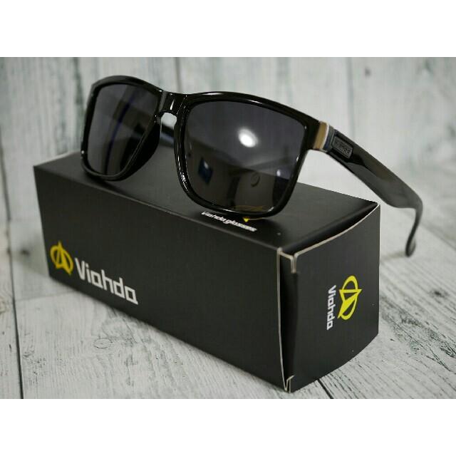 Viahda 偏光サングラス ブラック タレックス・オークリーのホルブルック型 メンズのファッション小物(サングラス/メガネ)の商品写真