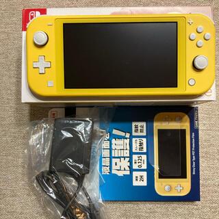 ニンテンドースイッチ(Nintendo Switch)のスイッチライト イエロー おまけ付き(携帯用ゲーム機本体)