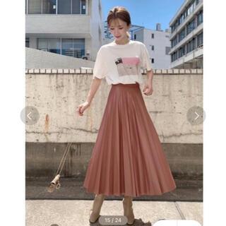 snidel - 【新品未使用】SNIDEL レザープリーツスカート
