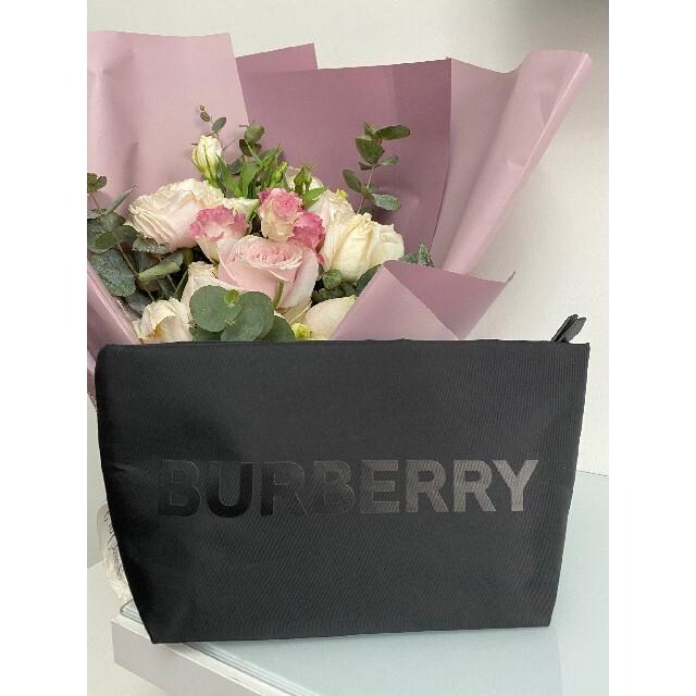 BURBERRY(バーバリー)の期間限定セール⭐バーバリー ポーチ 香水限定 正規ノベルティ ブラック レア品 レディースのファッション小物(ポーチ)の商品写真