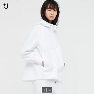 UNIQLO - 【ホワイトS】ユニクロ+J ドライスウェットフルジップパーカー