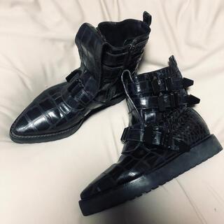 アレキサンダーワン(Alexander Wang)のアレキサンダーワン☪️型押し ブーツ(ブーツ)