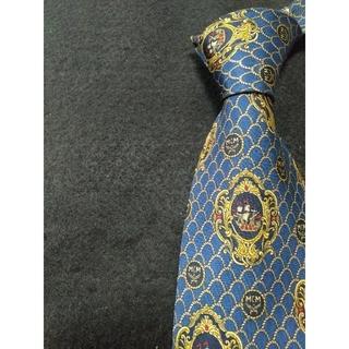 エムシーエム(MCM)の【極美品】MCM ネクタイ ブルー 高級シルク素材(ネクタイ)
