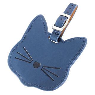 猫のネームタグ(ブルー)(キーホルダー)