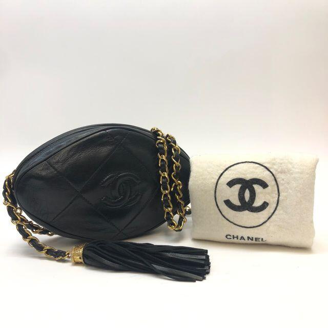 CHANEL(シャネル)のシャネル フリンジ チェーン ショルダーバッグ ラムスキン ブラック レディースのバッグ(ショルダーバッグ)の商品写真