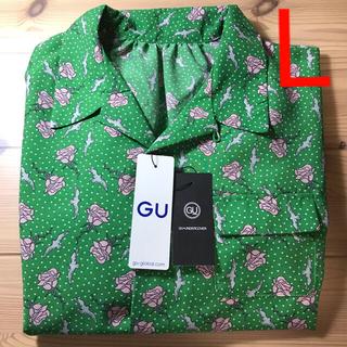 GU - GU UNDERCOVER コラボ ブラウス グリーン Lサイズ 新品未使用