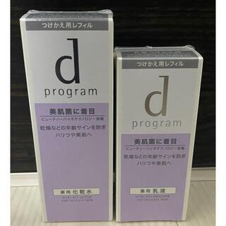d program - 資生堂 dプログラム バイタルアクト レフィル 化粧水 乳液