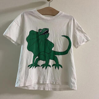 コドモビームス(こども ビームス)のミニロディーニ mini rodini 90.100 ☺︎襟巻きトカゲ柄Tシャツ(Tシャツ/カットソー)