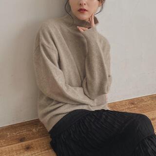 エディットフォールル(EDIT.FOR LULU)のpapermoon high-neck knit (beige)(ニット/セーター)