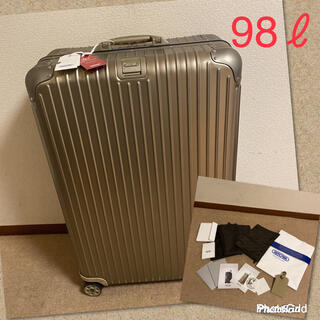 リモワ(RIMOWA)の希少‼️【新品】RIMOWA★リモワ トパーズ チタニウム/98ℓ スーツケース(トラベルバッグ/スーツケース)